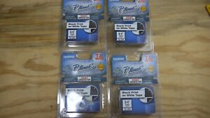 Brother P-touch TZ-241 label cartridge -black print on white tape 3/4inch (18mm)