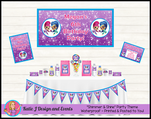 Image Is Loading Personalised SHIMMER And SHINE Birthday Party Decorations Supplies
