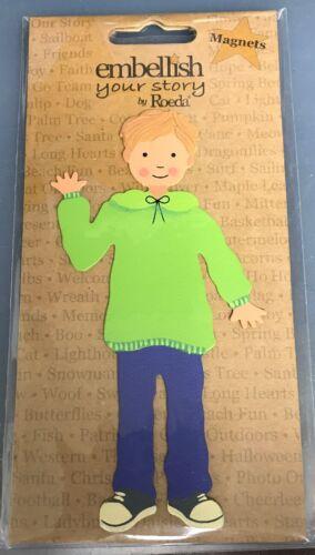 New NIP Roeda Embellish Your Story Magnet Boy Matthew Green Sweater E00161