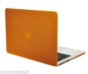 Tecool-Ultra-Slim-Multi-Kunststoff-Hard-Case-fuer-MacBook-Air-Orange-NEU-OVP