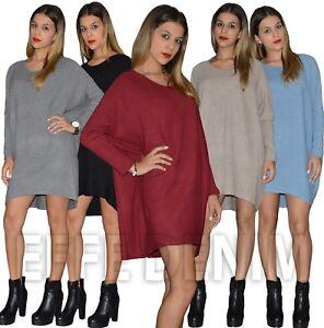 a8187af74ccf Maglione donna Maxipull pullover maxi maglia abito miniabito vestito ...
