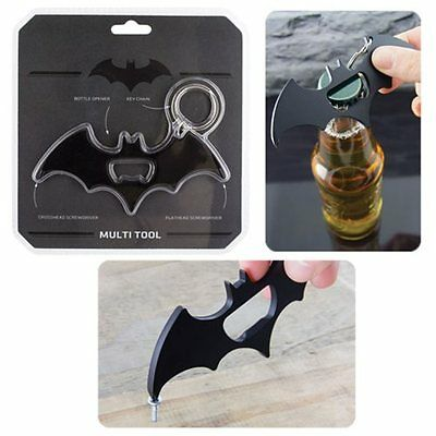 DC Comic BATMAN Official BAT SIGNAL MULTITOOL Keychain Bottle Opener Screwdriver