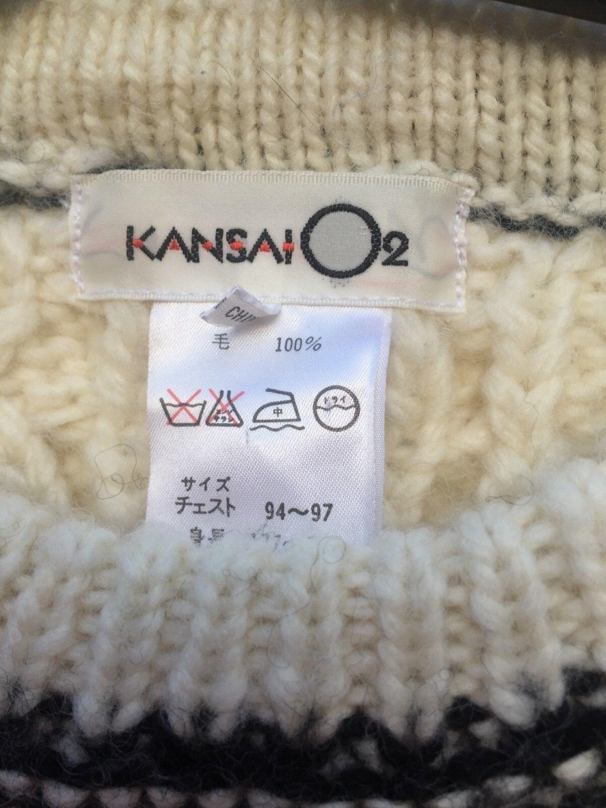KANSAI YAMAMOTO O2 VINTAGE CHUNKY 100% WOOL SWEAT… - image 7