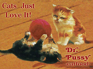 Nostalgic-Art-Iman-Gatos-Jugar-Gatos-Kitten-Just-Amor-It-Dr-Pussy-Cat-Food