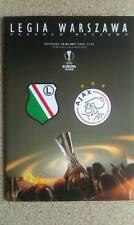 Programme Legia Warszawa - Ajax Amsterdam UEFA Europa League 16.02.2017