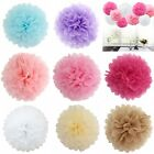 "100pcs Tissue Paper Pom Poms Flower Ball Wedding Party Birthday Decor 8""/10""/12"""