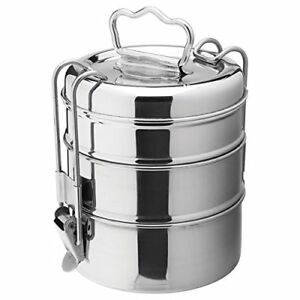 Stainless-Steel-Lunch-Box-Food-Container-3-Tier-Indian-Tiffin-Round-Carrier-Set