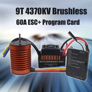 9T-4370KV-Brushless-Motor-60A-ESC-Program-Card-Combo-Kit-for-1-10-RC-Car-US