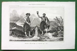 EXPLORER-BRUCE-Discovers-Source-of-Nile-River-Africa-1843-Engraving-Print