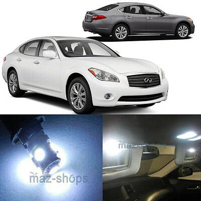 8Pcs Red Map//Cargo Lights Interior LED Package Kit For Infiniti M35// M37// M45