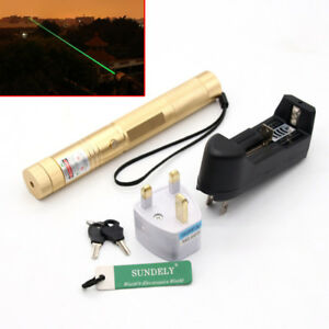 8000M 303 Green Pointer Laser Pen Adjustable Focus 532nm + Charger Brand New
