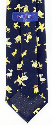 Yellow Ducklings Men/'s Neck Tie Duck Bird Easter Holiday Navy Blue Necktie