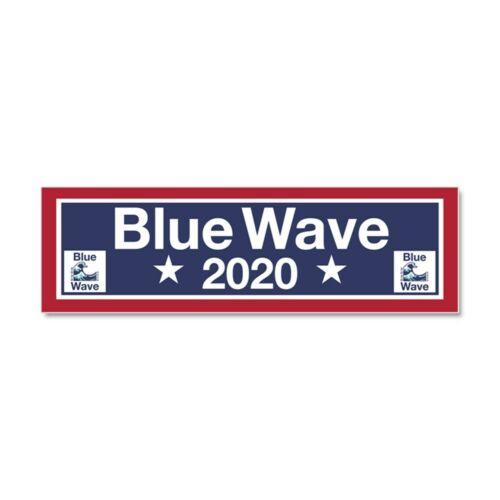 CafePress Blue Wave 2020 Car Magnet 10 x 3 Magnetic Bumper Sticker 394509629