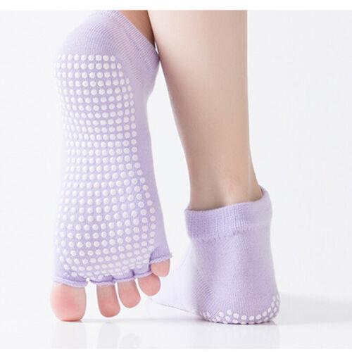 Womens Yoga Socks Anti Slip Sticky Bottom Workout Pilates Grip Sock Fitness New