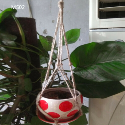Vintage Macrame Plant Hanger Flower Pot Holder String Hanging Rope Wall Art