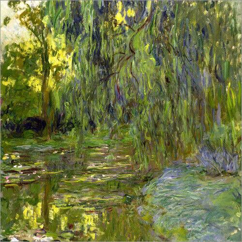 Claude Monet Leinwandbild Trauerweide Der Seerosenteich in Giverny