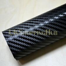 3d Nero in Fibra di Carbonio Car Wrap Pellicola 500x1500 mm bolla d'aria libera Foglio Adesivo