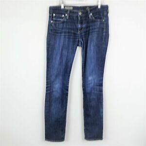 AG-Adriano-Goldschmied-The-Stilt-Cigarette-Jeans-Dark-Wash-Denim-Blue-Size-27R