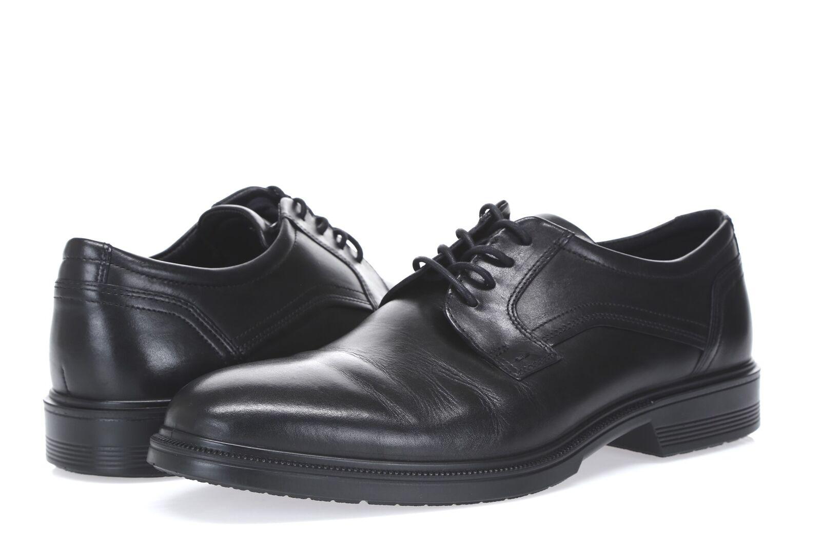 acquisti online ECCO ECCO ECCO 234626 Lisbon Plain Toe nero Leather Oxford scarpe sz. 45 US 11-11.5  autentico