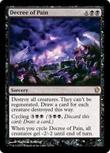 DECREE-OF-PAIN-Commander-2013-MTG-Black-Sorcery-RARE