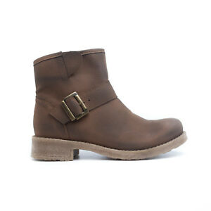 Woman-Vegan-Ankle-Boots-Mid-Barrel-Water-Resistant-Bota-mujer-marron-quemado-NAE