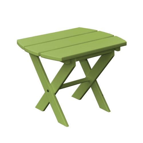 *Poly Furniture Wood* OVAL FOLDING END TABLE *TROPICAL LIME GREEN COLOR*