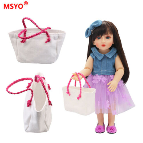 For American girl doll backpack accessories white bag 18 inch 43 cm doll