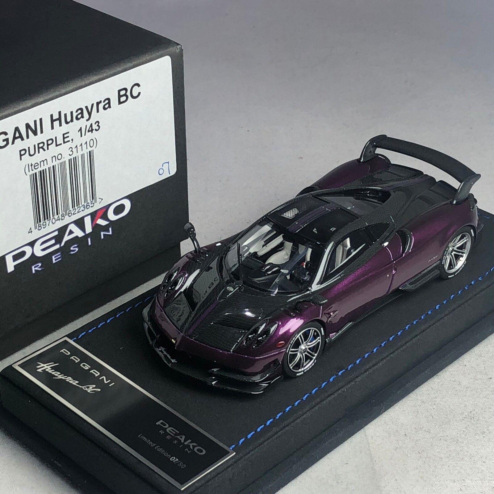 1 43 peako PAGANI HUAYRA Bc violet ltd 50 pcs  31110