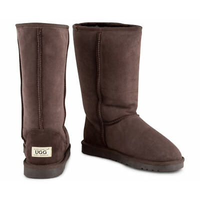 OZWEAR Connection Unisex Classic Long Ugg Boot - Chocolate
