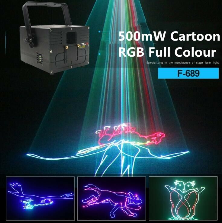 Light Stage 500mW PRO 3D DMX R light Laser ILDA color Full