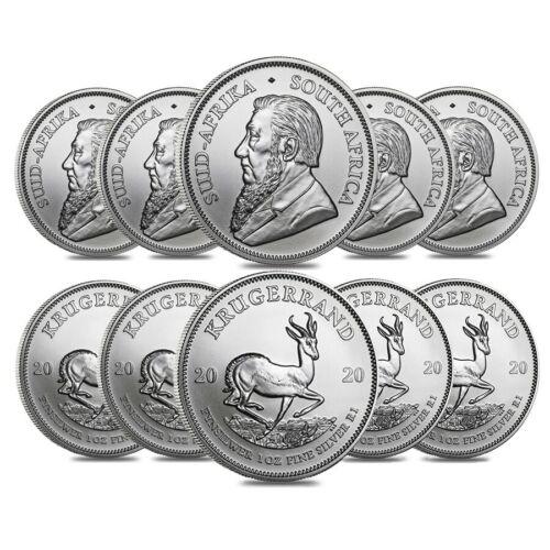 Lot of 10-2020 South Africa 1 oz Silver Krugerrand BU