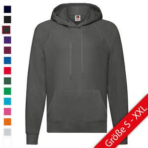 Details zu Fruit of the Loom Lightweight Hooded Sweat Herren Sweatshirt S XXL NEU