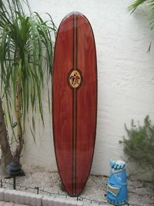 Details About Decorative Wood Surfboard Wall Art Hawaiian Coastal Beach Home Wall Decor