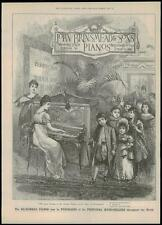 1889 Antique Print ADVERTISING - JOHN BRINSMEAD & SONS PIANOS Wigmore St (66)
