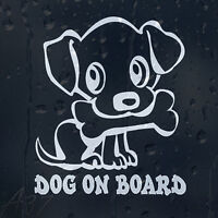 DoG On Board Funny Car Decal Vinyl Sticker For Window Bumper Panel Colour Choice