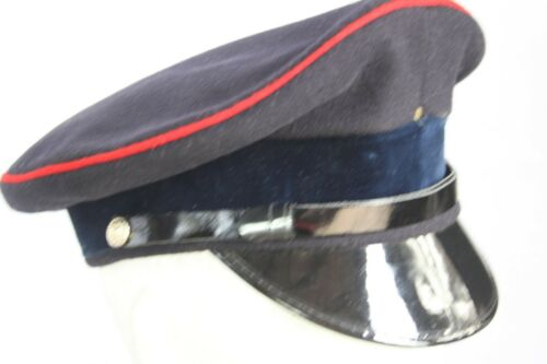 Genuine Surplus British Army Peak Dress Cap Hat Black Velvet Formal Uniform 780