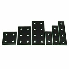 2pcs Black Joint Board Plate Corner Fastener Rectangle Bracket Connecting Plate