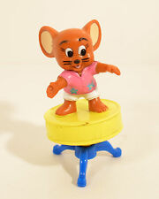 "1989 Jerry Mouse on Drum Stool 3"" Turner PVC Action Figure Tom & Jerry"
