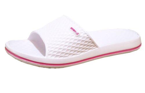 Damen Hausschuhe Badeschuhe 19- 341D Badelatschen  Pantoletten Schuhe Neu