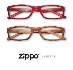 Glasses-Zippo-Reading-View-with-Scabbard-Tribute-Frames-Faux-Wood-Unisex