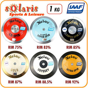 1x-Nelco-1kg-Discus-IAAF-Certified-Athletics-Competition-Implement-75-93-Rim