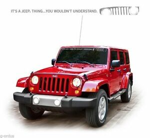 NEW IT'S A JEEP THING WRANGLER 50 INCH LONG WINDSHIELD STICKER DECAL!