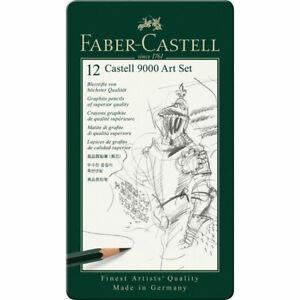 Faber-Castell-9000-Graphite-Pencils-Art-Tin-Set-of-12-2H-8B