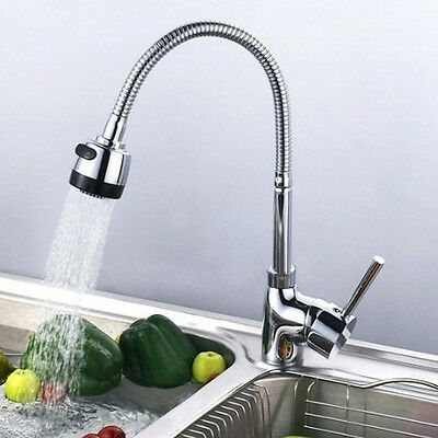 New Chrome Plated Water Tap Basin Kitchen Bathroom Wash Basin Faucet
