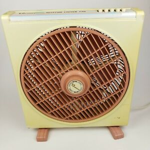 Treasury Rotating Louver Fan Tested Works Vintage  Pink Robbin Egg Blue 12 inch