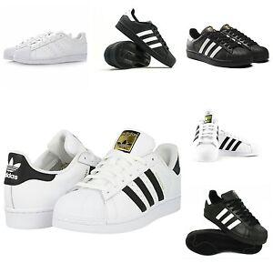 adidas superstar uomini formatori scarpe scarpe bianco e nero