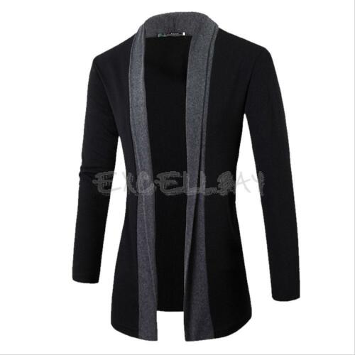 Stylish Men Knitted Cardigan Jacket Slim Fit Long Sleeve Casual Sweater Coat Top
