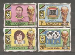 1982-TANZANIA-SG-346-349-WORLD-CUP-SPAIN-USED