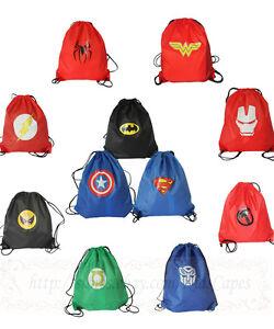Superhero drawstring bags made of Nylon Bag Sport Gym Birthday ...