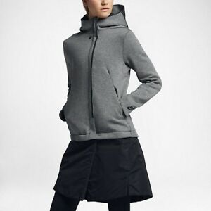 BNWT Size Small Women s Nike Tech Pack Fleece Hooded Jacket 831707 ... 86cded991